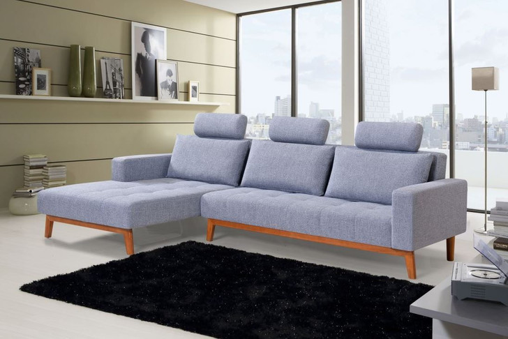 Casa Fabric Sleeper Sectional - Left or Right Side Chaise,sofa bed, sleeper sectional, fabric sofa bed, sleeper sectional, sectional, blue sectional, cheap sectional, cheap sofa bed