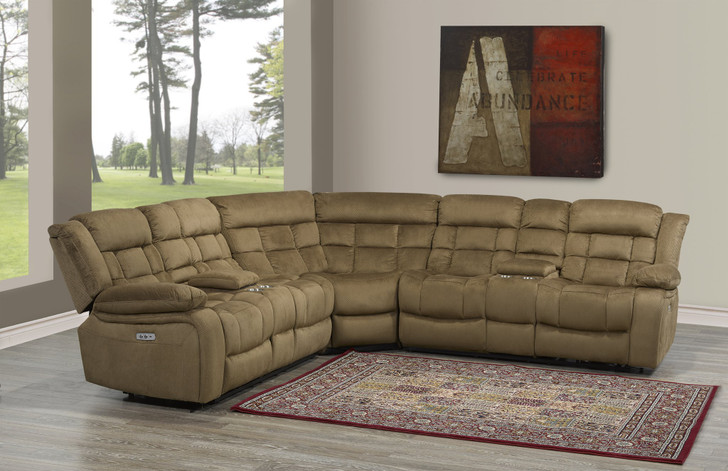 Issabelle 3 Pcs. Power Recliner Sectional - Brown