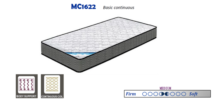 """MC1622 7"""" Continous Coil Mattress - Twin and Double/Full Size"""