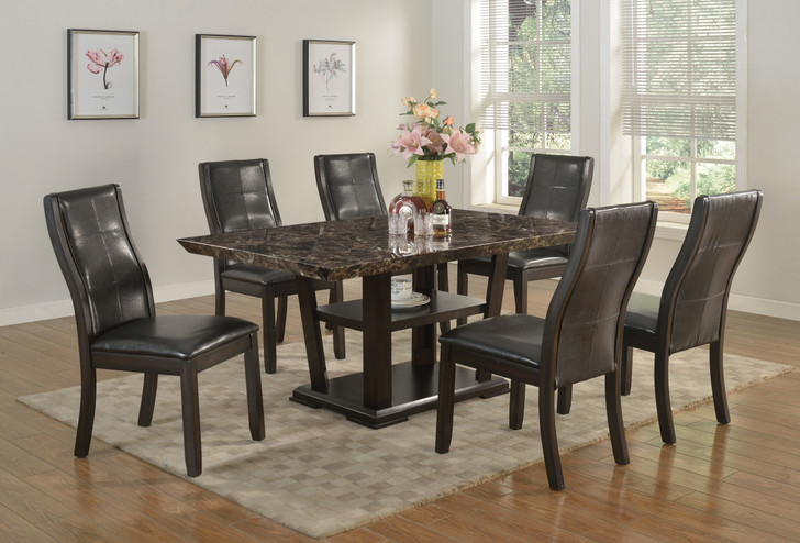 Charlotte Dining Table Set - Faux Marble