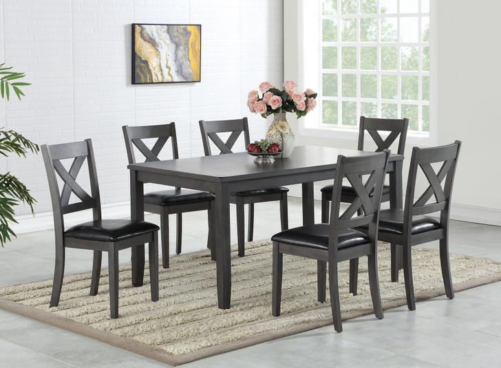 Gabrielle 7 Pcs Dining Table Set - Grey