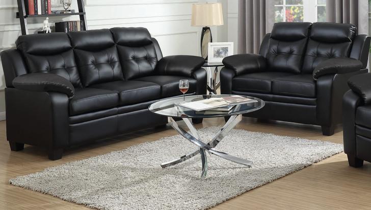 Finley 2 Pcs. Sofa Set - Black