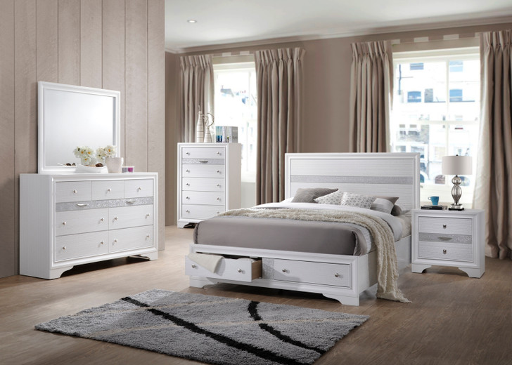 Allen White Bedroom Suite with Storage -  Queen and King Size