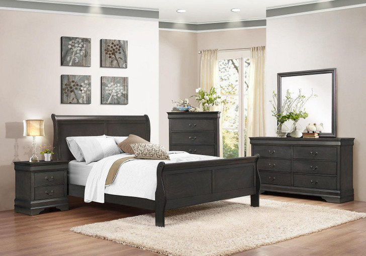 Louise Phillipe Grey Bedroom Set