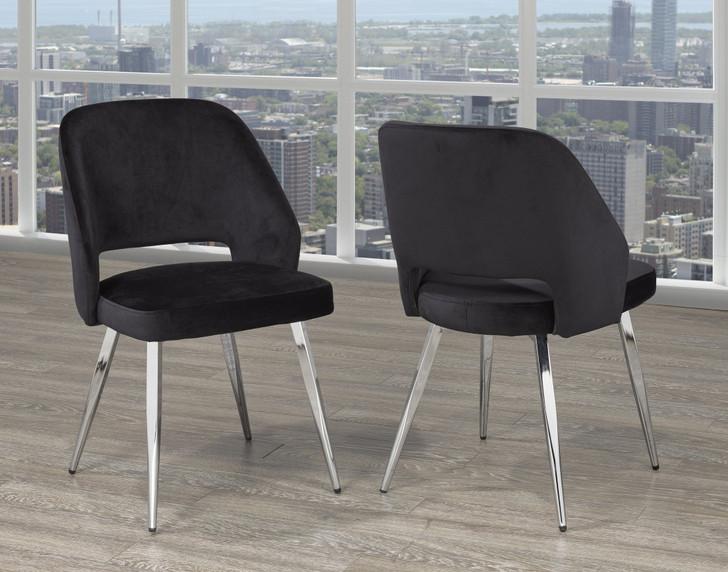 Palencia Dining Chair - Black Velvet