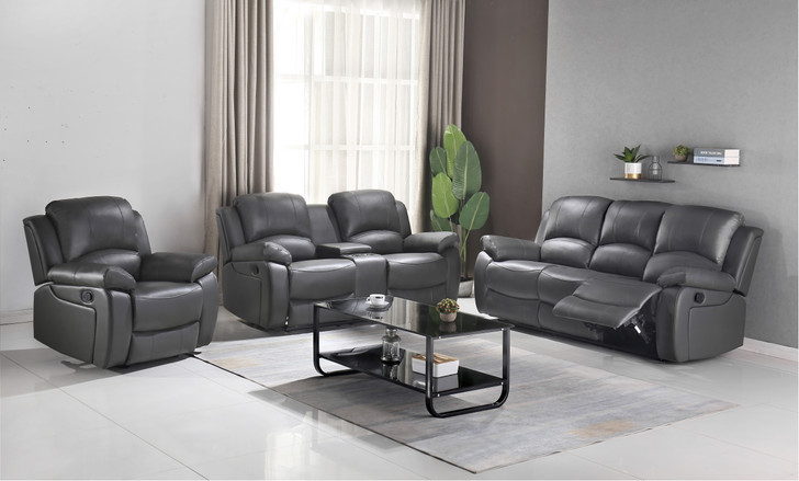 Catherine Recliner Sofa Set - Grey
