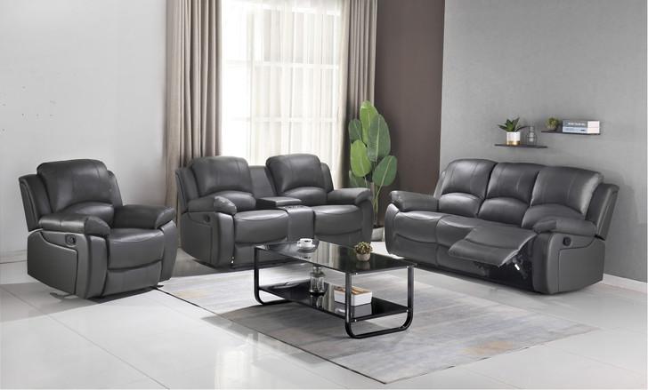 Catherine Recliner Sofa Set - Grey