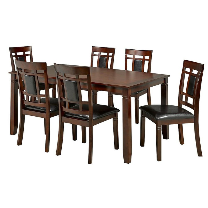 Brussel 7 Pcs Dining Table Set - Grey