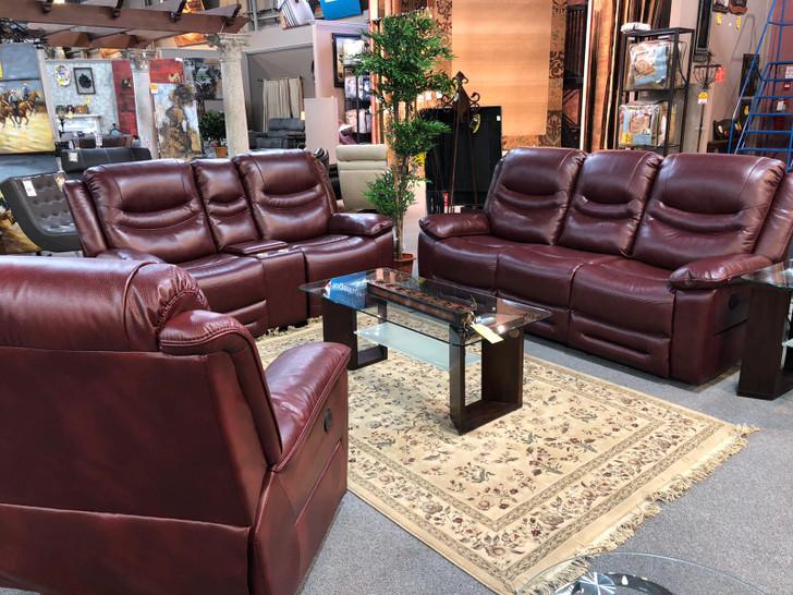 Seattle Power Recliner Sofa Series  - Burgundy