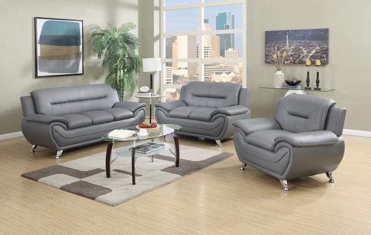 Esla Grey 3 Pieces Sofa Set - Sofa, Loveseat and Chair