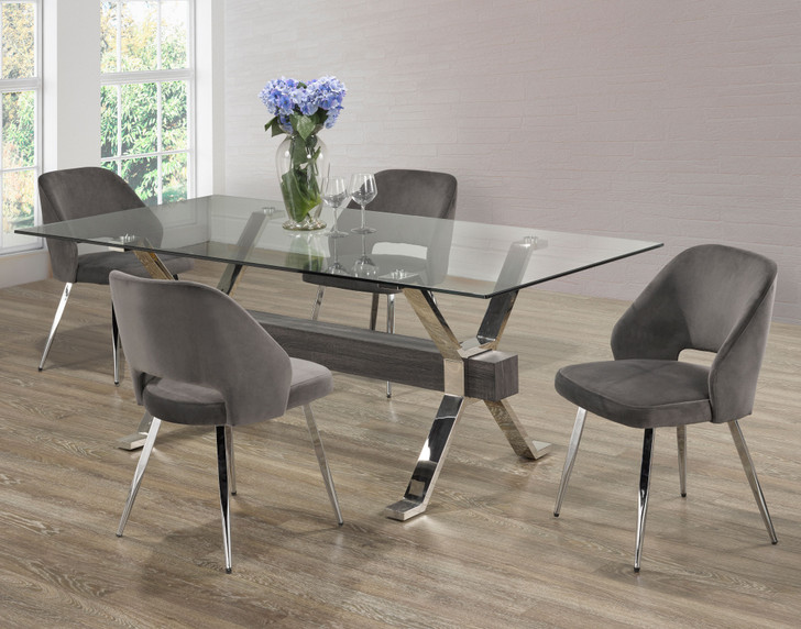 Palma Grey Dining Table Set  - 5 Pieces