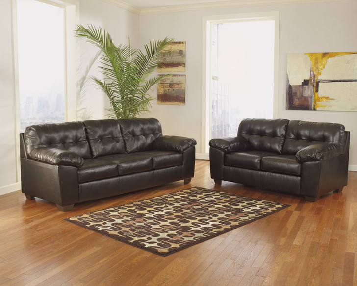 Lattitude - Brown Sofa and Loveseat