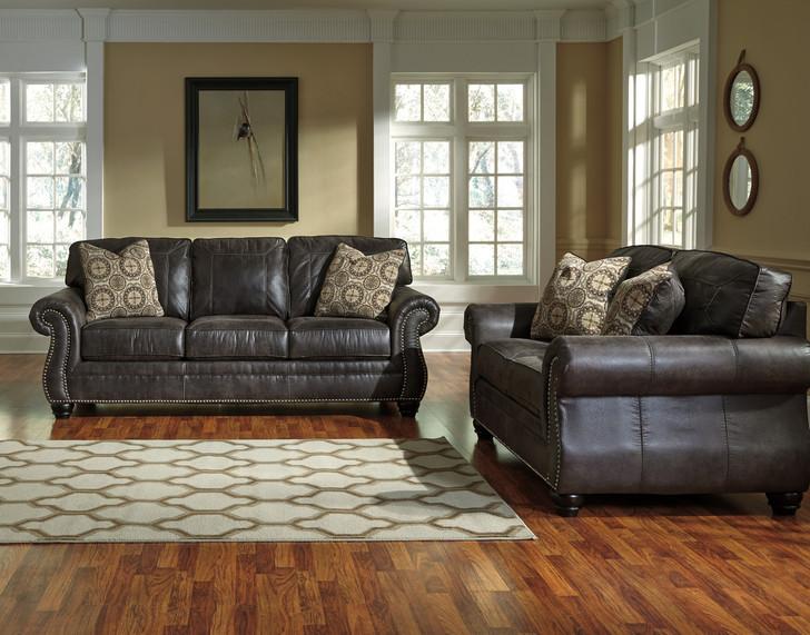 Dorthea - Charcoal Sofa and Loveseat