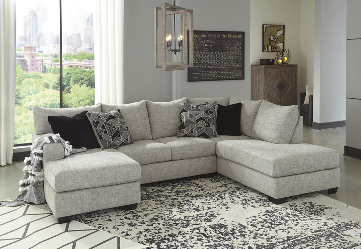 Angela Sectional with Dual Chaise- Beige Fabric