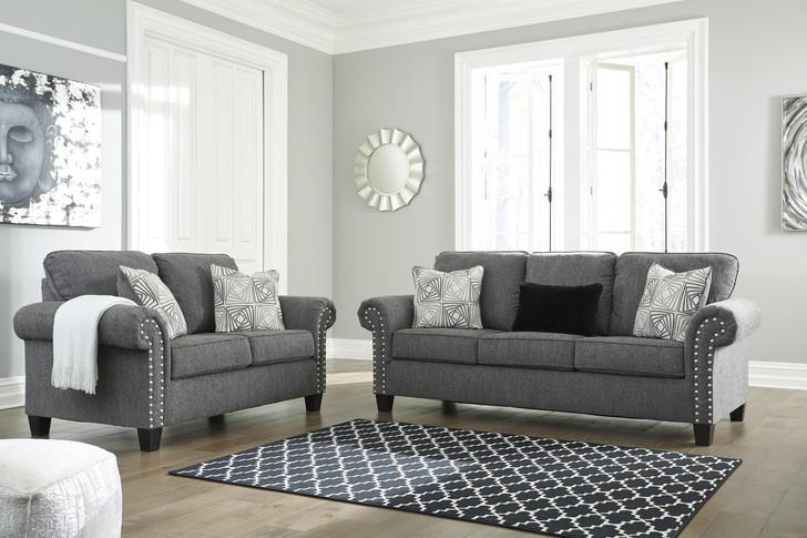 Fiona Sofa and Loveseat - Grey Fabric