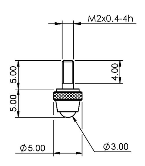 Tip Ø3.00 mm Ball Nylon