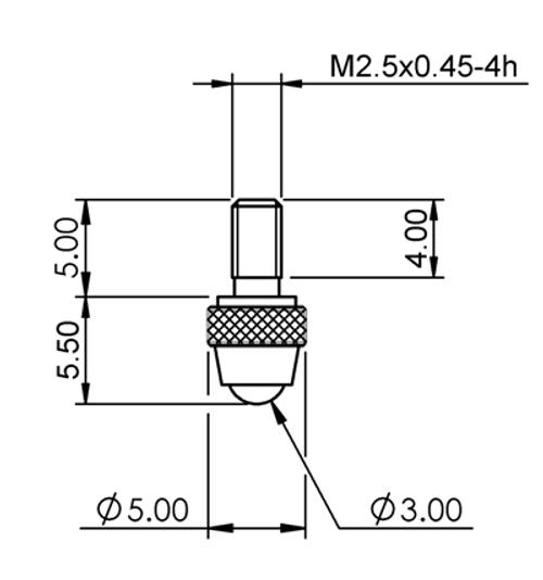 Tip Ø3.00 mm Ball Ruby