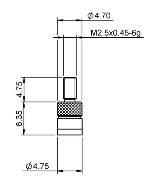 Tip Ø4.75 mm Flat Tungsten Carbide