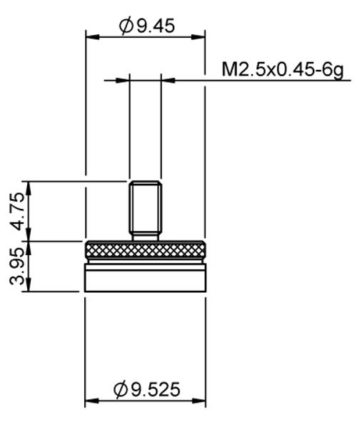 Tip Ø9.52 mm Flat Tungsten Carbide