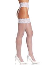 Haut en dentelle Stocking et taille Jarretière Reine Blanc