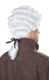 Colonial Man White Wig - Image 2