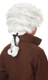 Child Colonial Man Wig back