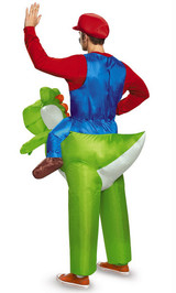 Costume de Super Mario sur Yoshi Adulte back
