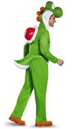 Costume de Yoshi Super Mario pour Adulte back