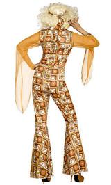 Costume de la Diva de Disco de 70 back