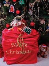 Sac Deluxe en Velours Rouge  du Père Noël