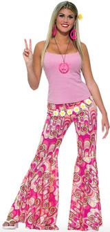 Pantalon à Fleur à Pattes d'Ef des Années 60