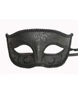 Classic Venetian Mask Black - image deux
