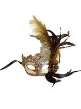Gold Venetian Lace Mask - image deux
