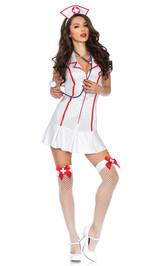 Costume d'infirmière-chef back