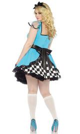 Costume de Alice aux Pays des Merveilles Taille Plus back