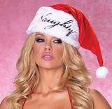 Nice/Naughty Santa Hat