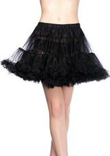 Layered Tulle petticoat Black Plus Size