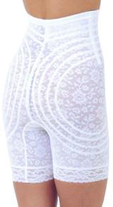 Rago Amincisseur des Cuisses en Dentelle Taille Haute - Blanc Plus