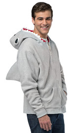 Costume Pull-Over à Capuche  de requin pour Adulte back