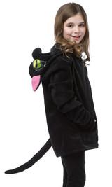 Costume Pull-Over à Capuche de chatte noire pour enfant back