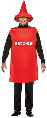 Ketchup Adult costume back