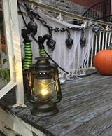 """Light Up Argent Antique Lantern Deluxe Décor 11"""""""