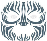 Tribal Zebra Face Tattoo - image arriere