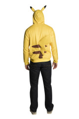 Pikachu Adult Hoodie With Tail back