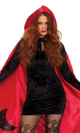 Cape en Satin de Chaperon Rouge back