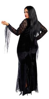 Costume de Sorcière Morticia Taille Plus back