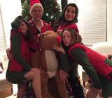 Costume de Père Noel à Dos de Renne