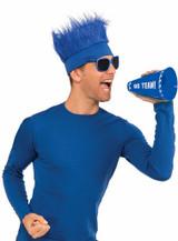 Bandeau Fourrure Bleue back