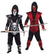 Costume de Seigneur Ninja Crane Noir et Argenté back