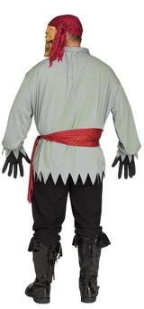 Costume de Pirate Squelette Grande Taille back